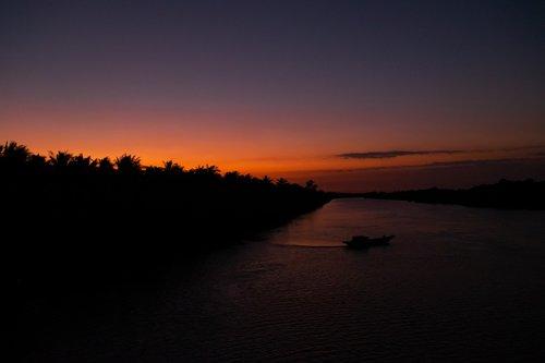 sunset  wave  night