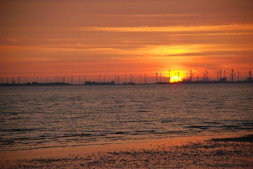 sunset afterglow beach