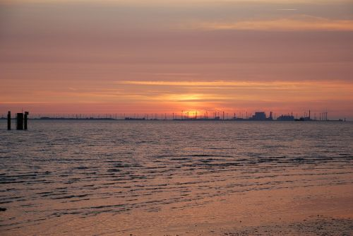 sunset afterglow emden