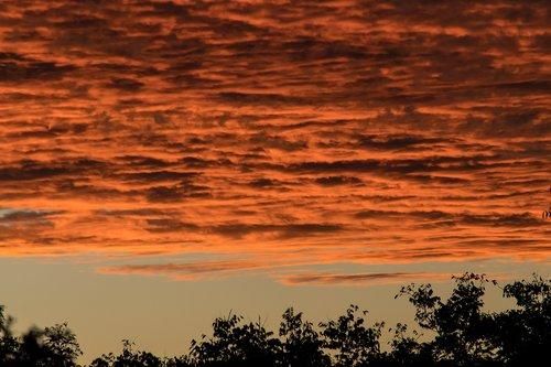 sunset  sky  grey