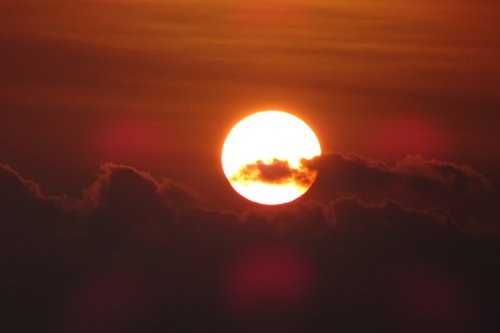 sunset  dusk  glow