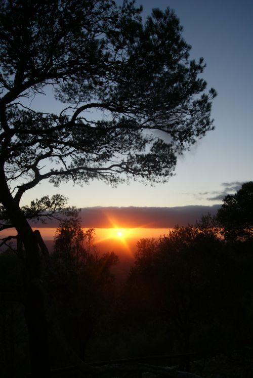sunset evening mood
