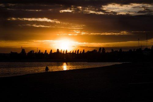 sunset  nature  sun