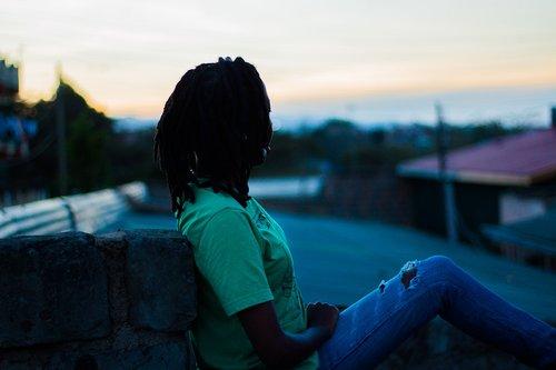 sunset  africa  dreadlocks