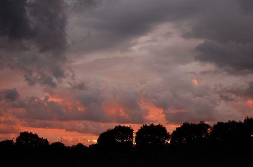 sunset himmel cloud