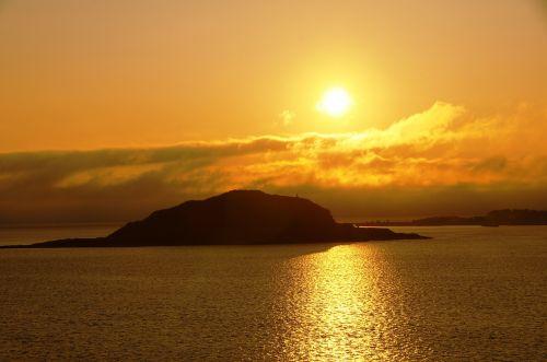 sunset norway abendstimmung