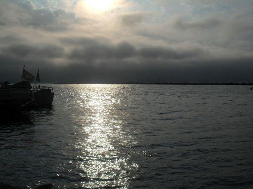 sunset walvis bay bay