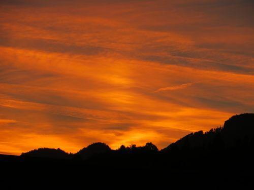 sunset color twilight