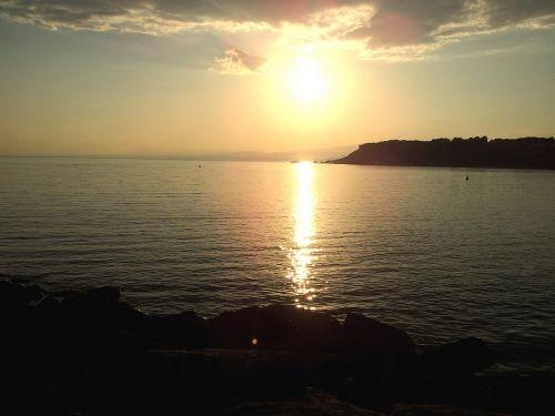 sunset waterfront naples