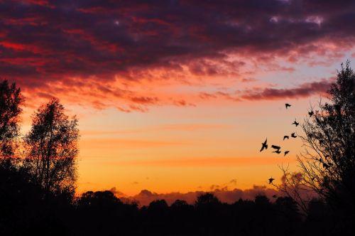 sunset afterglow aufbruchstimmung