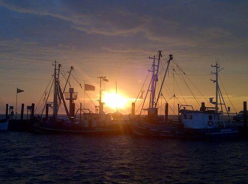 sunset north sea nordfriesland