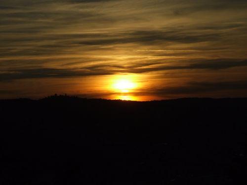 sunset afterglow evening sky