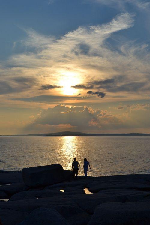 sunset peggy's cove nova scotia