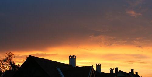sunset rooftops mood