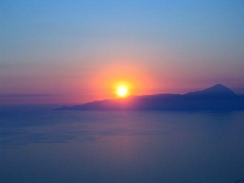 sunset calabria sea