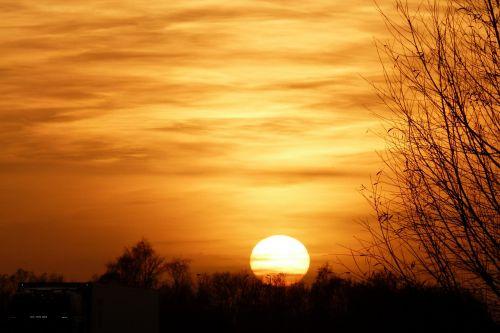 sunset evening sun