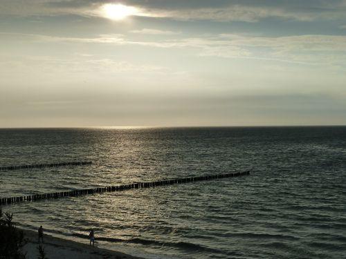 sunset baltic sea nienhagen