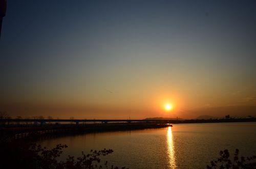 sunset solar glow