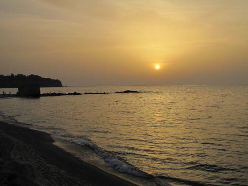 sunset tropea sea