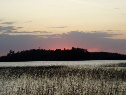 sunset lake summer