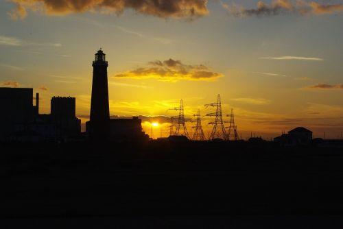 sunset lighthouse dungeness