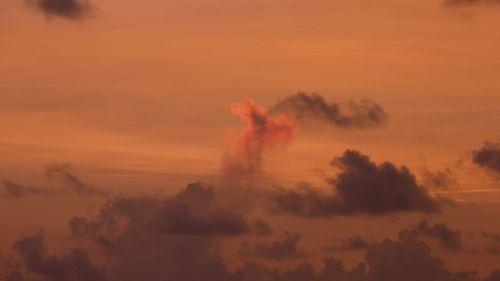 sunset morgenrot sky