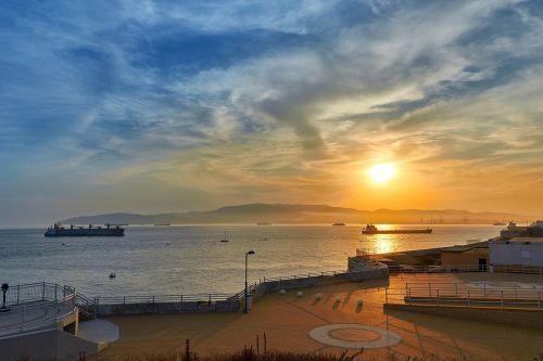 sunset booked sea