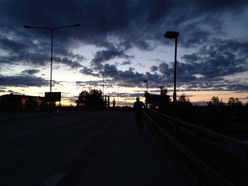 sunset road landscapes