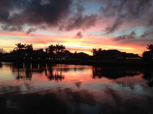 sunset ocean gorgeous sky