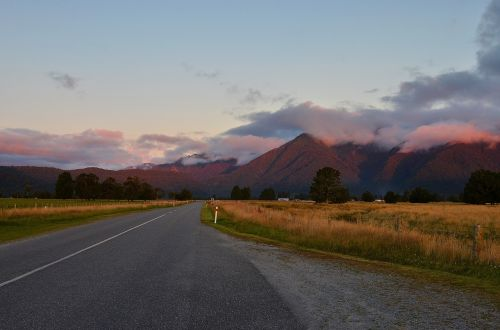sunset new zealand the scenery