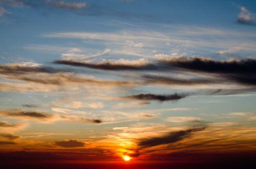 sunset sky evening sky