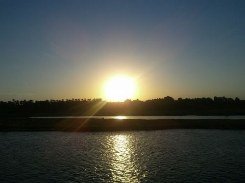 saulėlydis, Nile, Egiptas