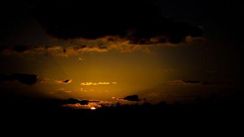 sunset evening afterglow