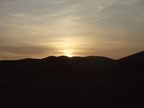 sunset desert mongolia