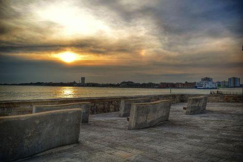 sunset sea portsmouth