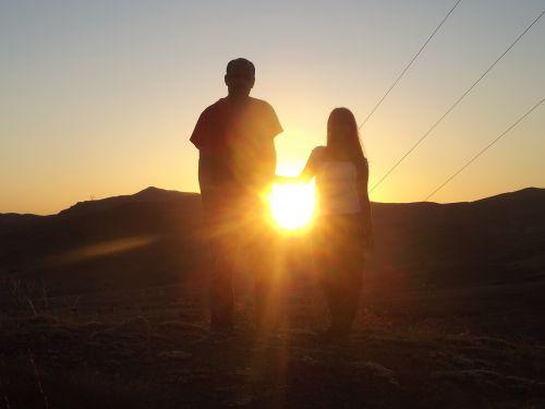 sunset solar landscape