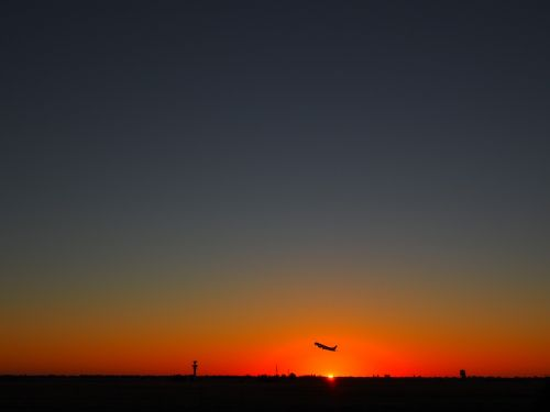 sunset adelaide airport south australia