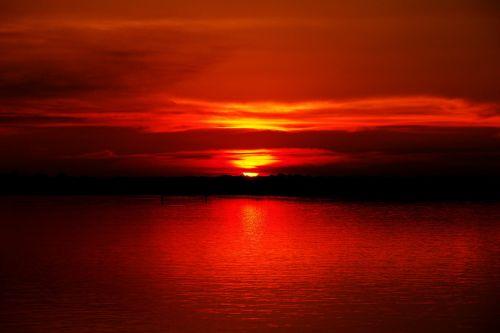 sunset river amazon