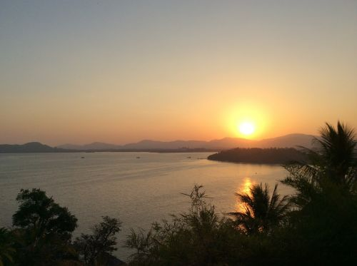 sunset phuket thailand