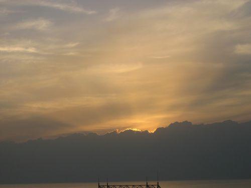 sunset afterglow sea
