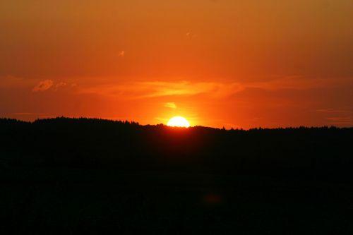 sunset sun afterglow