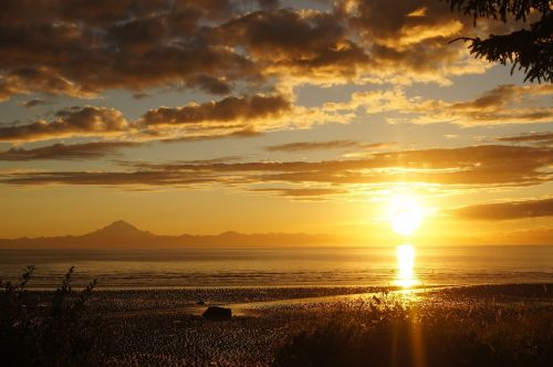 sunset alaska cook's inlet
