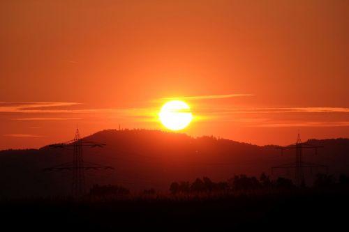 sunset disappear horizon