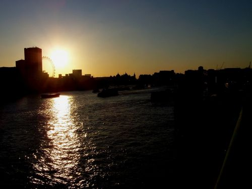 sunset thames river