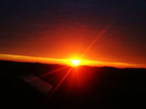 sunset sunburst sunlight