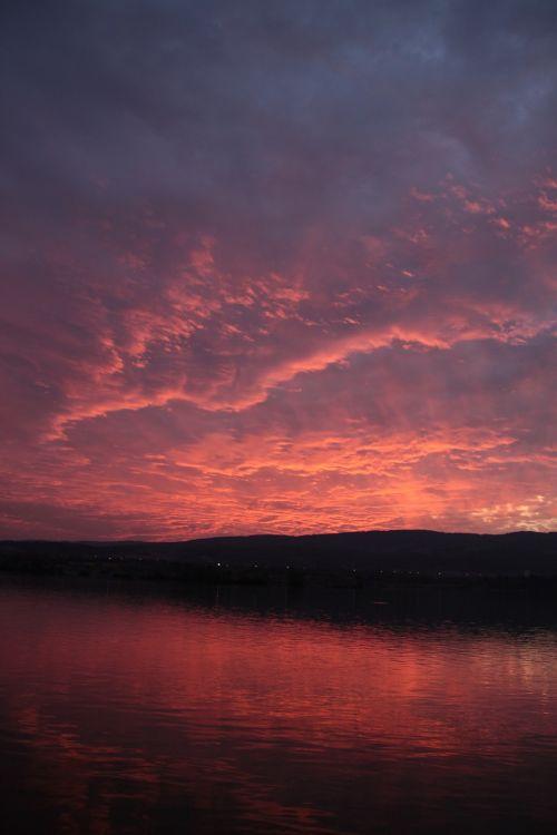 sunset danube river