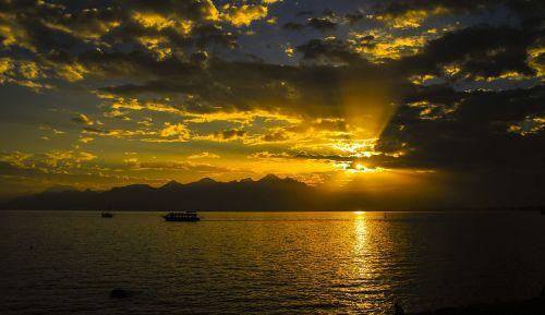 sunset antalya marine