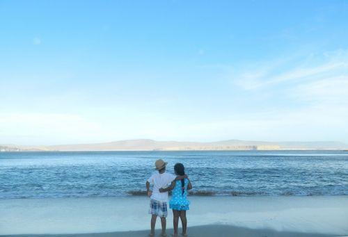 sunset beach mines pisco - peru
