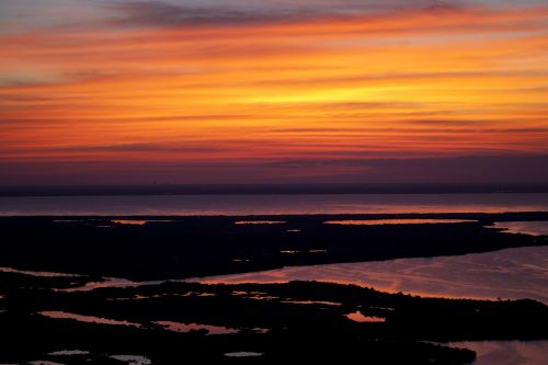 sunset seascape twilight