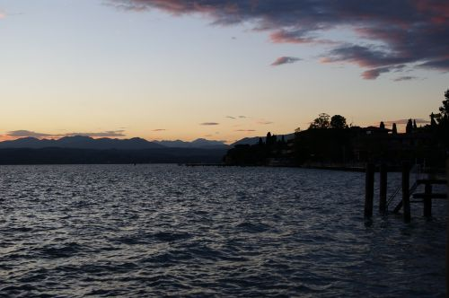 sunset evening sirmione